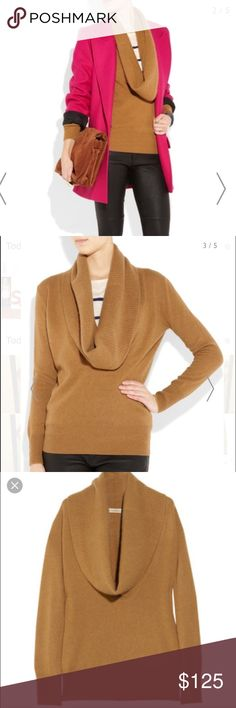 J crew florian cascade cowl-neck cashmere sweater 100% cashmere sold out!! Oversized cowl neck slouchy sweater. Product pictured above is the exact same as actual product J. Crew Sweaters
