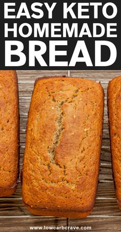 The BEST Low Carb Keto Bread Recipe (low carb & delicious! Keto Bread Coconut Flour, Keto Flour, Almond Flour Recipes, Honey Bread, Rye Bread, Coconut Flour Cakes, Keto Banana Bread, Blueberry Bread, Almond Meal
