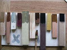 oud hout met azijn en staalwol