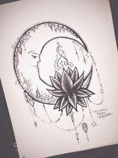 Moon and lotus