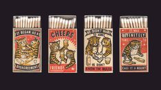 Your Fancy Colorado-based artist Arna Miller uses vintage style packaging, advertising, . -Strike Your Fancy Colorado-based artist Arna Miller uses vintage style packaging, advertising, . Vintage Packaging, Packaging Design, Animal Experiences, Matchbox Art, Colossal Art, Bath And Beyond Coupon, Painting Videos, Aesthetic Vintage, Vintage Fashion