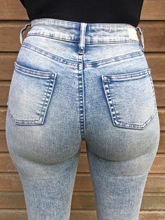 Stephanie Wolf - my new tight light blue jeans