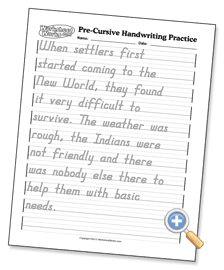 cursive handwriting practice worksheet **This website ...