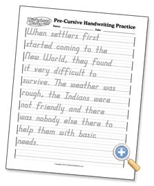 Pre-Cursive Handwriting Practice: choose the guides, type what you want them to copy, and print it out! AWESOME
