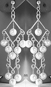 Two Tier Chandelier Earrings using the Wig Jig for wire wrapping