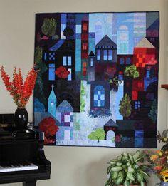 9 Patch Scrappy Village is finished. November 2014, Karen Gillis Taylor
