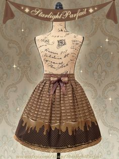 Milk Chocolate Delight | Dripping Chocolate Skirt | Kawaii, Harajuku, OTT Sweet lolita Skirt | Handmade in USA  | Made To Order |