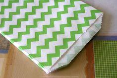 GREEN CHEVRON Favor Bags