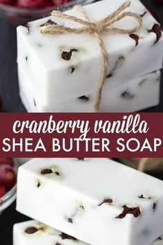 Vanilla Shea Butter Soap Cranberry Vanilla Shea Butter Soap - Make your own DIY soap perfect for holiday gift giving.Cranberry Vanilla Shea Butter Soap - Make your own DIY soap perfect for holiday gift giving. Diy Peeling, Diy Beauté, Bath Bomb Molds, Shea Butter Soap, Body Butter, Soap Making Supplies, Homemade Soap Recipes, Homemade Vanilla, Glycerin Soap