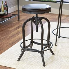 @ Alkaios Adjustable Height Swivel Bar Stool By Mercury Row Rustic Counter Stools, Bar Height Kitchen Table, 24 Bar Stools, Swivel Bar Stools, Mercury, Bar Furniture For Sale, Furniture Ideas, Furniture Websites, Inexpensive Furniture