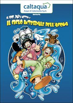 """Copertina fumetto educational """"Caltaqua"""""""
