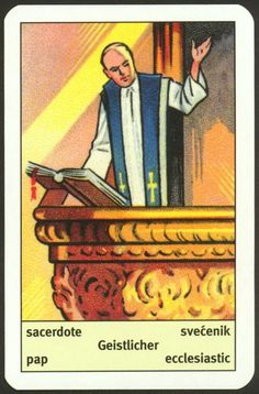 27. Geistlicher (Ecclesiastic) - The Art Deco cards first published by Piatnik in 1936