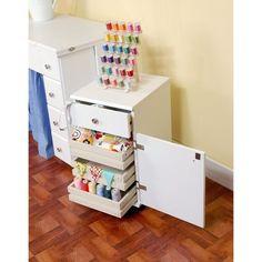 Arrow 'Suzi' White Crafts & Sewing Four Drawer Storage and Organization Cabinet