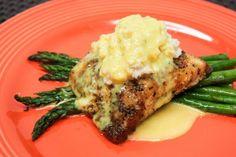 Classic Salmon Oscar - Morey's Baked Salmon Recipes, Fish Recipes, Recipies, Oscar Food, Salmon And Asparagus, Cooking Recipes, Healthy Recipes, Gourmet Cafe, Recipes