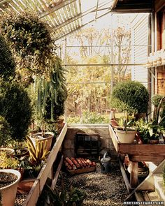 Build Your Own Attached Greenhouse - good for alternatively heating your house, less expensive to build than an interior room, use recycled glass.