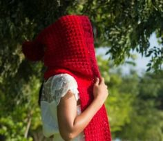 341little red riding hood crochet hoodie hat scarf