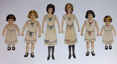 Antique 1914 Milton Bradley Tru Life Paper Dolls 6 Different Dolls Mostly Uncut | eBay