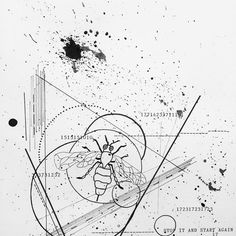 stop it and start again  #scruffyscribbles #art #artofinstagram #artwork #sketch #illustration #pen #ink #darkart #darkartists #iblackwork #blackwork #blackflashwork #instaart #wasp #messy #splatterpaint #geometric #geometricart #geometrictattoo #wasp #design #blackworkerssubmission