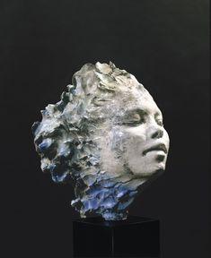 blue - head - woman - sculpture - Carlo Previtali Sala Ss. Filippo e Giacomo Brescia