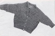 Post Free Pattern / Vintage Baby Knitting Pattern Raglan