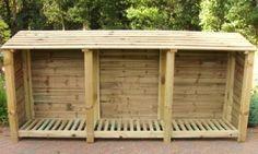 Triple Firewood Shed