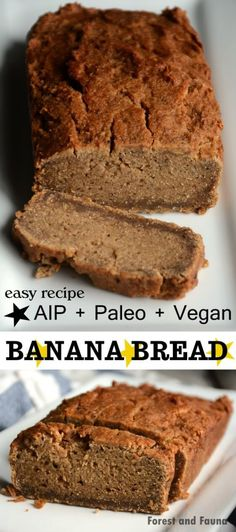 AIP Paleo Banana Bread - Vegan