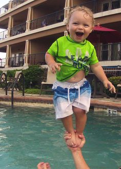 Kids Category - Alexander in the pool at the Croatan Surf Club in Kill Devil Hills, NC