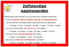 afbeelding zelfstandige naamwoorden Learn Dutch, Learn English, School Info, School Tips, School Ideas, Dutch Language, Classroom Language, School Hacks, Learning To Be