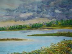 Near Viking Point - Cape Cod - watercolor