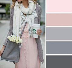 Pink and Gray color palette Colour Pallete, Colour Schemes, Color Trends, Color Combos, Pink Palette, Pink Color Palettes, Pastel Colour Palette, Colour Combinations Fashion, Color Combinations For Clothes