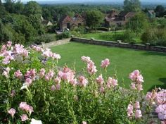 One of Chartwell's beautiful garden views.  This is from the house looking down the hill.  The first cottage is his painting studio--it looks the way he left it.  Paints are all out and brushes at the ready.  Lovely, lovely property.