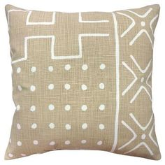Patterned Throw Pillow (18x18