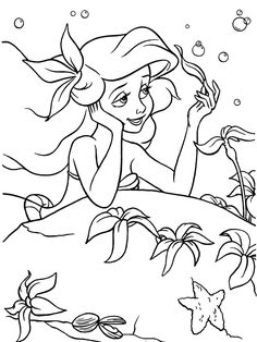 The Little Mermaid Coloring Page . the Little Mermaid Coloring Page . Free Printable Little Mermaid Coloring Pages for Kids Princess Coloring Pages Printables, Ariel Coloring Pages, Mermaid Coloring Book, Disney Princess Coloring Pages, Disney Princess Colors, Disney Colors, Coloring Pages For Girls, Colouring Pages, Coloring Sheets
