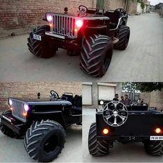 Black Open Willy''s Classic Look Jeep ❤ . Hummer Truck, 6x6 Truck, Jeep Truck, Trucks, Cj Jeep, Jeep Cj7, Jeep Wrangler, Bugatti, Lamborghini