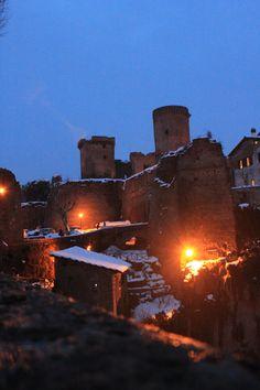 Nepi ( Italy ) Castle of Borgia - Snow