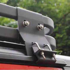 Picture of a 4 Door Aluminium Roof Rack Basket Gutter mount A-alloy Truck Roof Rack, Car Roof Racks, Vw Bus T3, Volkswagen Karmann Ghia, Roof Rack Basket, Aluminium Roof, Best Jeep Wrangler, Patrol Y61, Truck Accessories