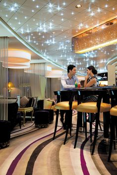 A variety of bars and lounges on board each ship