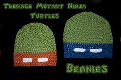 Crocheted ninja turtle Beanies. Super Cute!!!