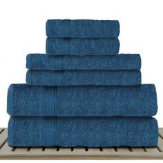 Linen Depot Direct Sandra Venditti 6 Piece Bamboo Rayon Towel Set Color: Teal