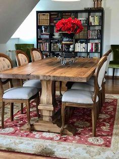 Masa lemn masiv clasica cu scaune tapitate Dining Table, Rustic, Furniture, Home Decor, Country Primitive, Homemade Home Decor, Dinning Table Set, Home Furnishings, Farmhouse Style