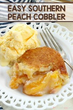 This Easy Southern Peach Cobbler recipe is a must-make dish for your next cookout! This Easy Southern Peach Cobbler recipe is a must-make dish for your next cookout! It can be served warm or at room temperature. Easy Southern Peach Cobbler Recipe, Southern Recipes, Canned Peach Cobbler Recipe, Peach Recipes Easy, Easy Peach Cobbler, Healthy Peach Cobbler, Southern Food, Easy Desserts, Delicious Desserts
