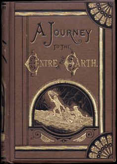 Journey to the Centre of the Earth by Jules Verne, with cover by Édouard Riou, 1871