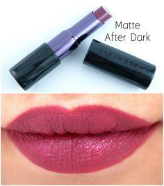 Urban Decay Matte Revolution Lipsticks Swatches: Matte After Dark Dark Eyeshadow, Dark Lipstick, Lipstick Swatches, Lipstick Colors, Matte Lipsticks, Urban Decay Lipstick, Urban Decay Makeup, Makeup Storage Small, New Makeup Ideas