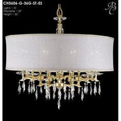 ABC Lighting Kaya 10 Light Drum Chandelier Shade Color: Parisian Gold Hardback, Finish: Polished Brass