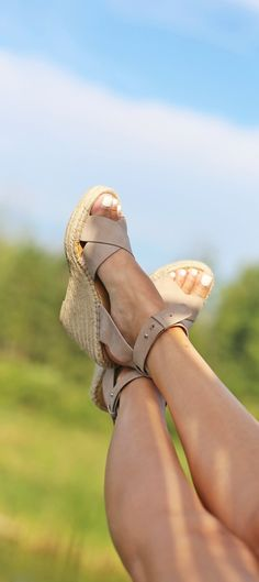 Hello perfect summer wedges! Nude wedges are the perfect summer accessory!