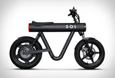 Germany-based motor company SOL Motors have introduced the Pocket Rocket, a compact urban commuter vehicle. The light and fast electric two-wheeler with an award winning design is capable of speeds thanks to the horsepower packed in a hub-m Electric Moped, Electric Cars, Electric Vehicle, Futuristic Motorcycle, Futuristic Cars, Motorcycle Design, Bicycle Design, Motorcycle Battery, Concept Motorcycles