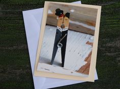 gay wedding card clothespin groom and groom by andivaaugenglueck