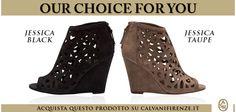 Per chi è #indeciso tra #scarpa #aperta o #chiusa, la #zeppa #Jessica è il #compromesso #ideale! #Scegli tra le #varianti #Black o #Taupe su #Calvani #Firenze