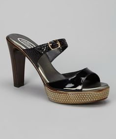 Love this Black Layla Sandal by CALLISTO of CALIFORNIA on #zulily! #zulilyfinds