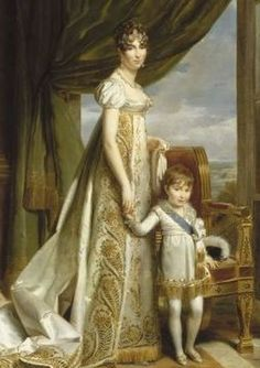 Queen Hortanse with her son Napoleon - Charles Bonaparte (1802 -1807).
